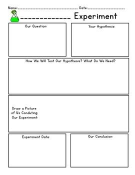 Science Experiment Data Worksheets 5 Options Science