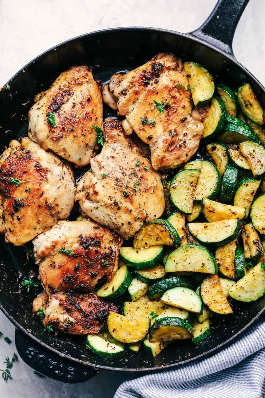 Buttery Garlic Herb Chicken with Zucchini -