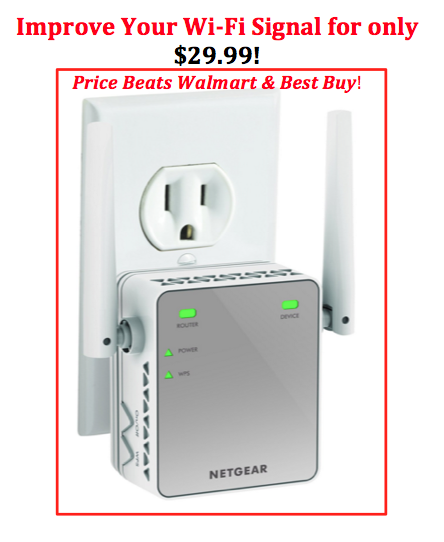 Wi Fi Range Extender 29 99 Ships Free With Prime Netgear Best Wifi Wifi Extender