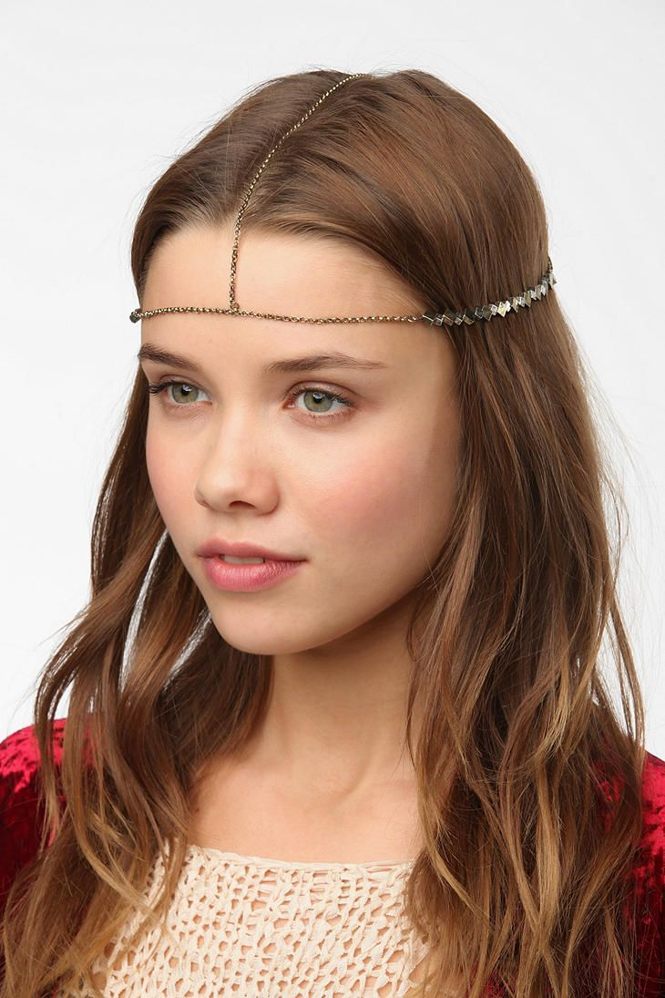 Metal Bead Goddess Chain Headwrap  UrbanOutfitters  732f2634361