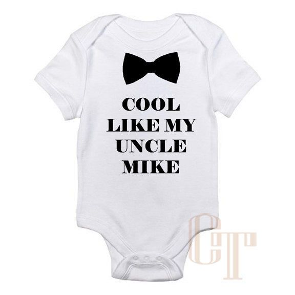 Cool like my uncle custom name baby onesie shower birthday newborn cool like my uncle custom name baby onesie shower birthday newborn gift bow tie personalized negle Choice Image