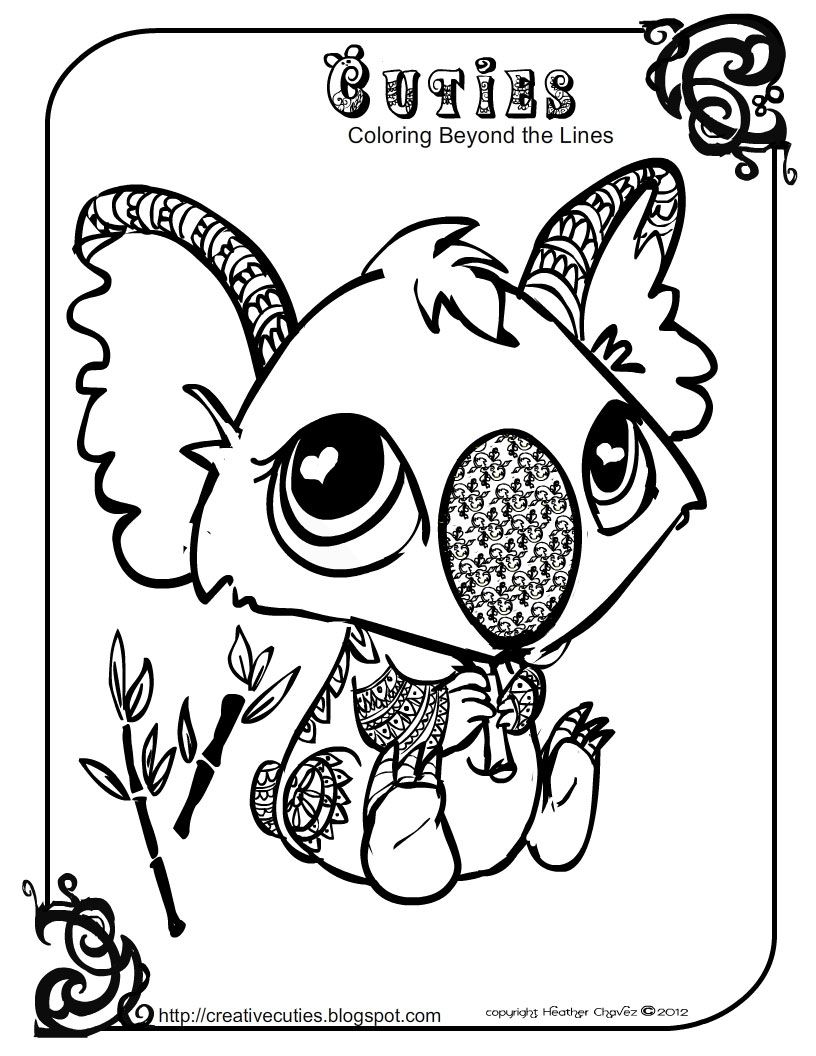 Creative Cuties: koala printable coloring page | Rubber, Clear, Digi ...