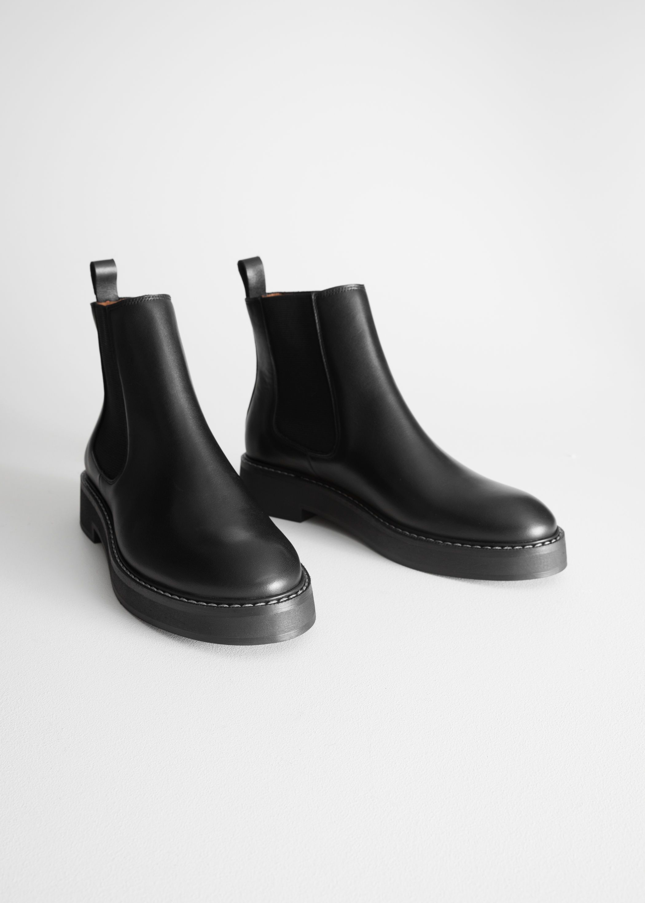 Leather chelsea boots, Boots