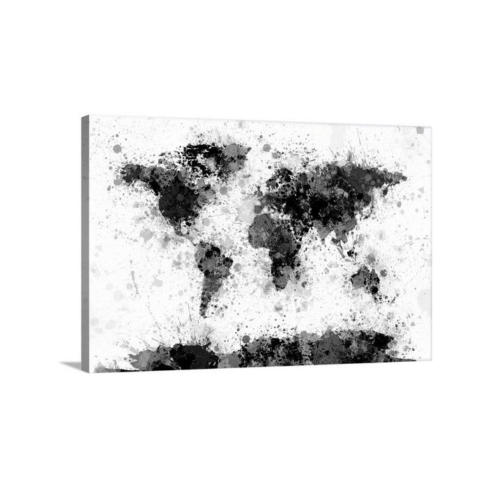 Great big canvas world map paint splashes by michael tompsett great big canvas world map paint splashes by michael tompsett graphic art on wrapped gumiabroncs Images