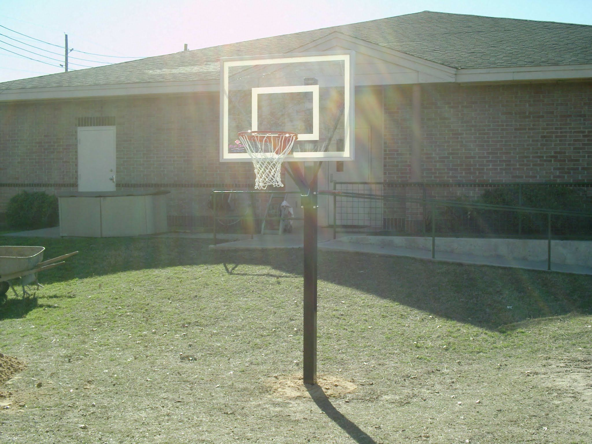 sport fixed height basketball goal from dunrite playgrounds http