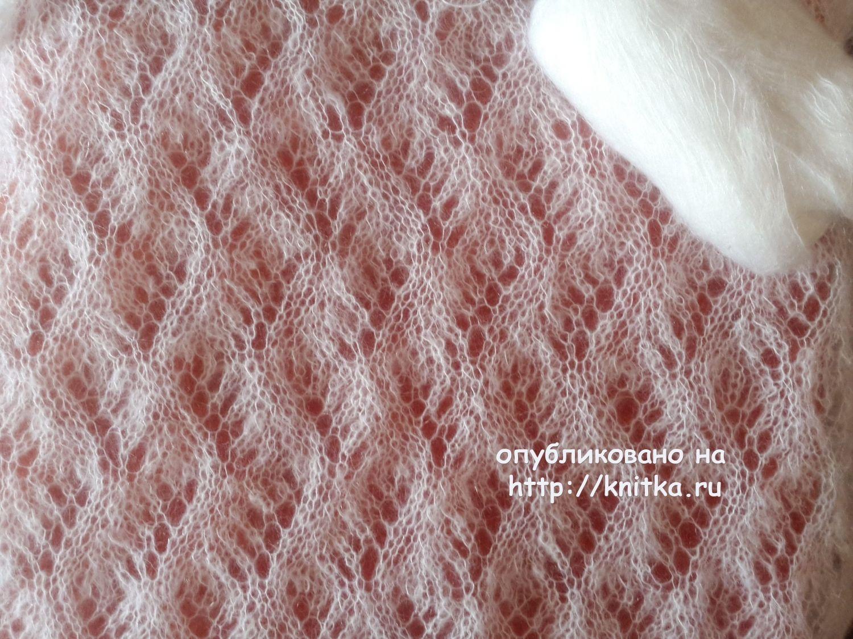 схема вязания спицами шали из мохера