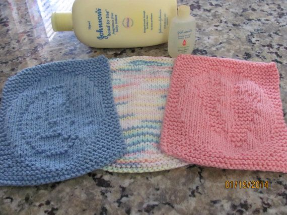 Knit Baby Washcloth Unique Knit Pattern Goodnight Moon By Amailys