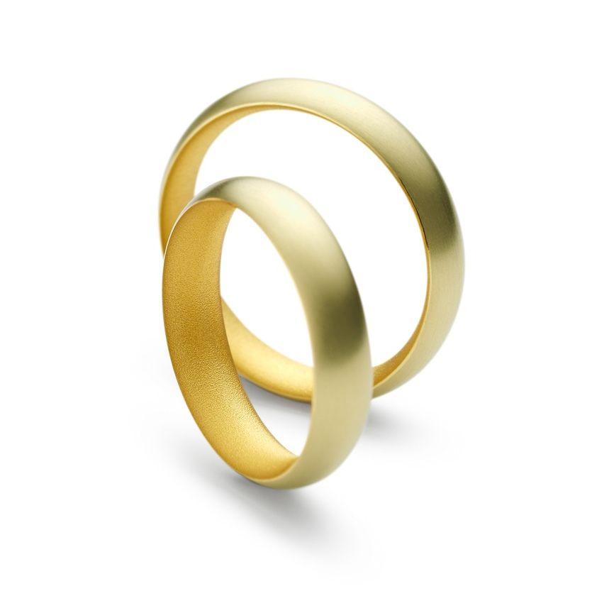 wwwORROcouk Niessing 24ct Gold Inside Wedding Rings ORRO