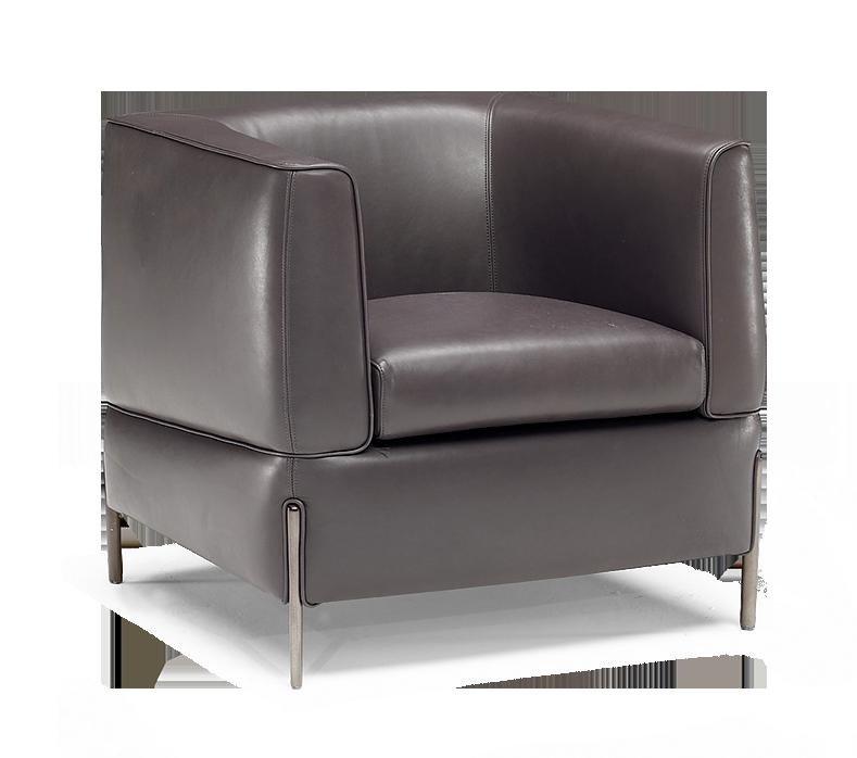 Anteprima Natuzzi Italia Contemporary Leather Chair Chair