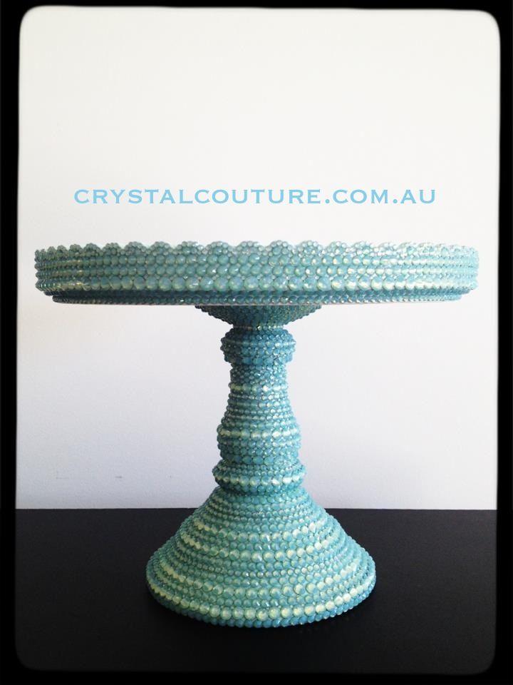 Swarovski embellished cake stand by crystalcouture.com.au #tiffany #blueu2026 & Swarovski embellished cake stand by crystalcouture.com.au #tiffany ...