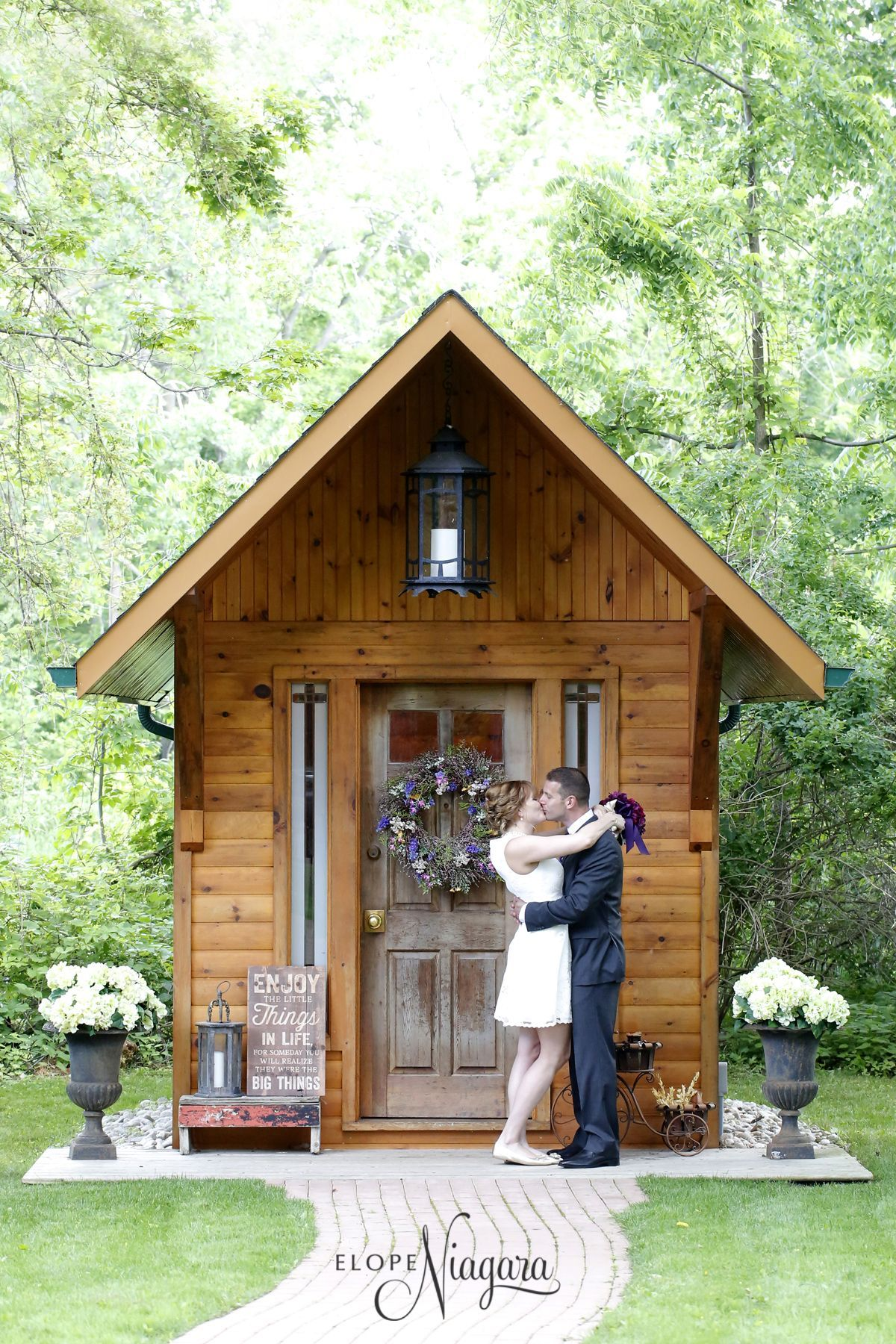 Our Cute And Charming Little Log Wedding Chapel Is Too Perfect For A Elopement