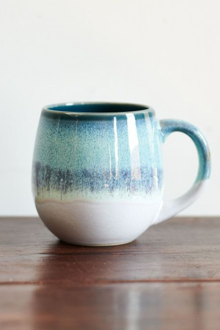 Blue Drippy Ceramic Mug #ceramicmugs