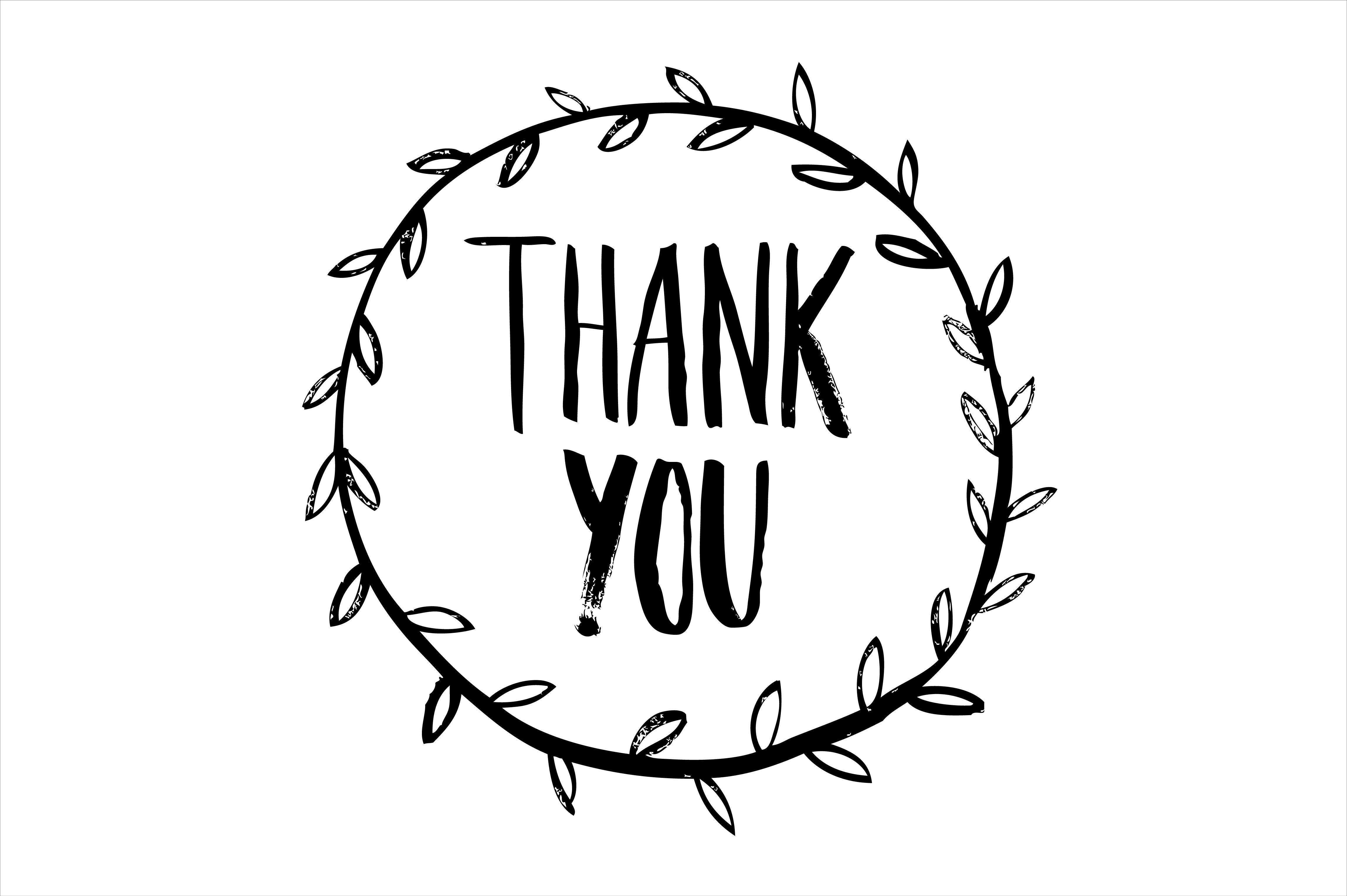 thank you calligraphy vector by lyeyee on Creative Market