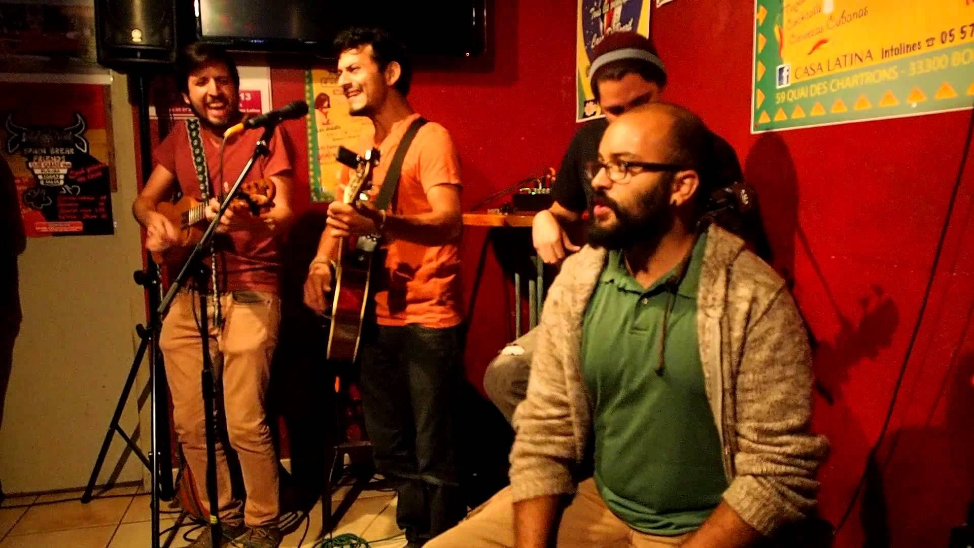 Tériso & Jano Arias cantan SPAIN BREAK FRIENDS CASA LATINA (Bordeaux 30-... TOUS LES MERCREDIS SPAIN BREAK FRIENDS (Rumba Reggae Salsa) TOUS LES JEUDIS OPEN ZIK LIVE (Concert divers) TOUS LES VENDREDI BRAZIL TIME (Samba Forro) TOUS LES SAMEDIS LATINO TIME (TAINOS & His Live Latino) TOUS LES DIMANCHES OPEN SUNDAY MUSIK (Live Accoustik  CASA LATINA 59 QUAI DES CHARTRONS 33300 BORDEAUX Infolines / 0557871580  CASA LATINA Tous les soirs concert.  https://www.youtube.com/watch?v=PGt1tsVrXG8