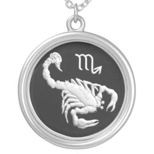 Commemorative Russian Coin, Scorpio Zodiac Necklace