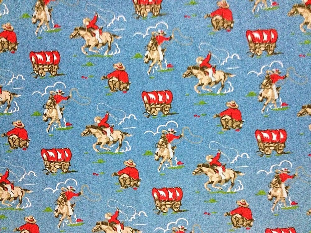 Mini Trains Blue 100/% Cotton Haberdashery Fabric per metre Cath Kidston