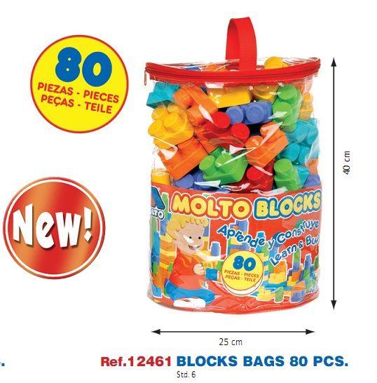 comprar bolsa de bloques de plstico para juegos construccin molt indalchess