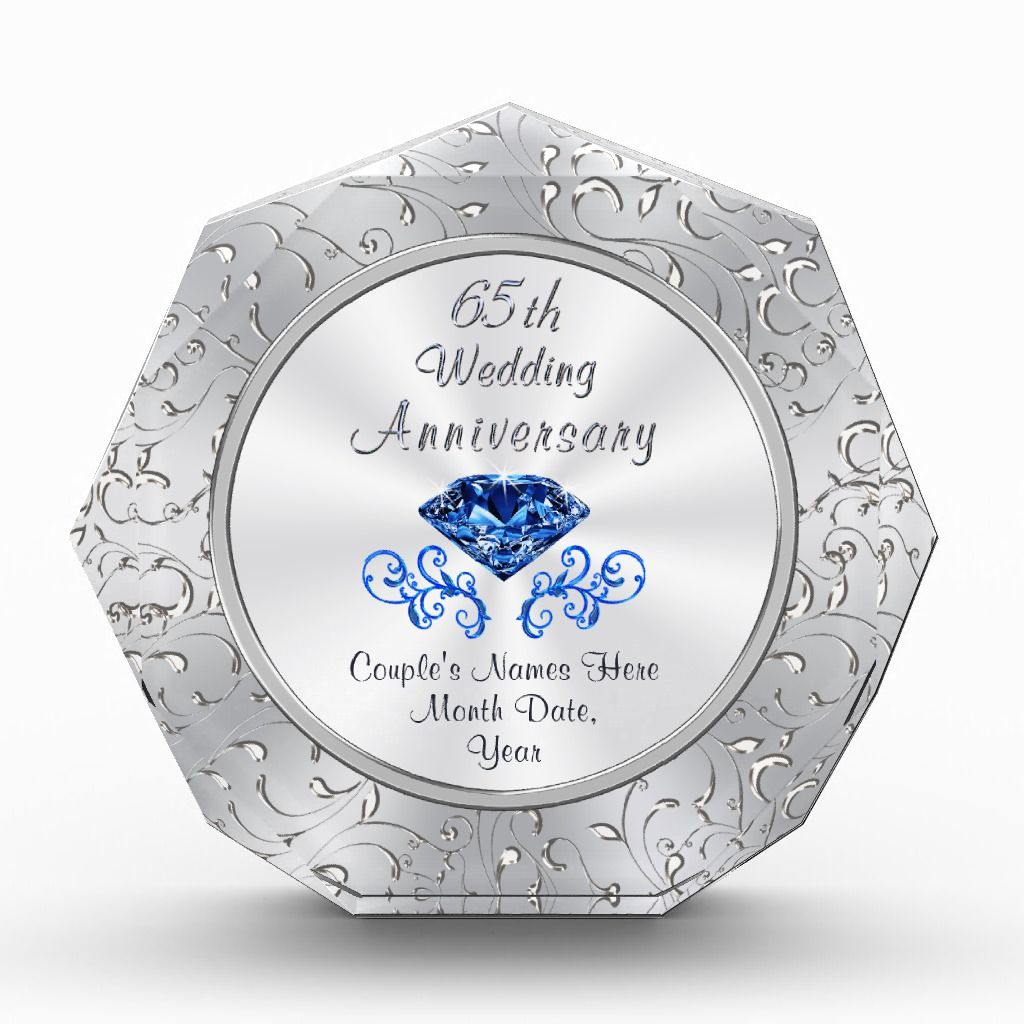 Personalized 65th Wedding Anniversary Gift Ideas Zazzle Com In 2020 65th Wedding Anniversary Wedding Anniversary Gifts Anniversary Party Supplies