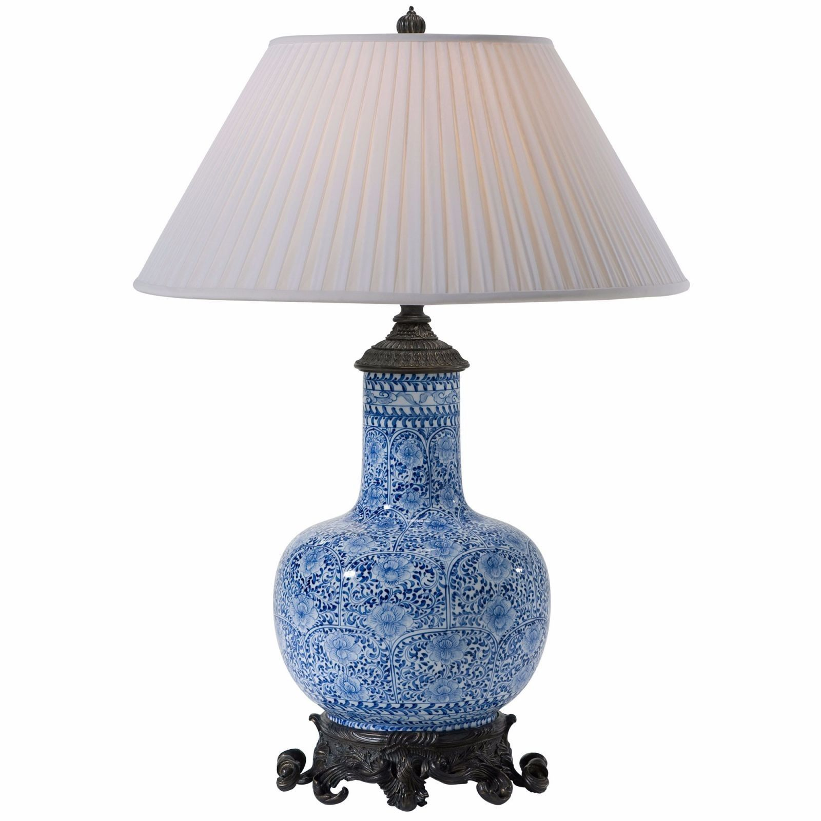Very large blue patterned ceramic table lamp with shade 90cm 189 very large blue patterned ceramic table lamp with shade 90cm 189 harvestmoon lighting larger lamps pinterest ceramic table lamps ceramic table and geotapseo Image collections