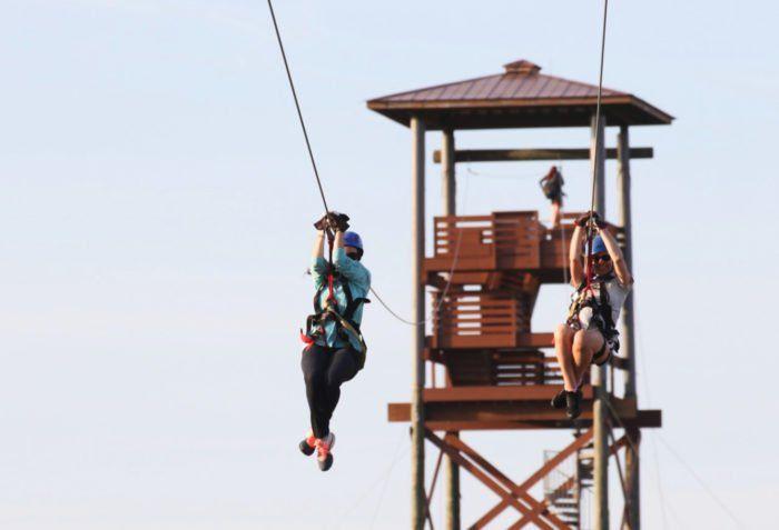 Try The Highest Longest And Fastest Zipline On The Gulf Coast At Alabama S Hummingbird Zipline Course Ziplining Alabama Zipline Adventure