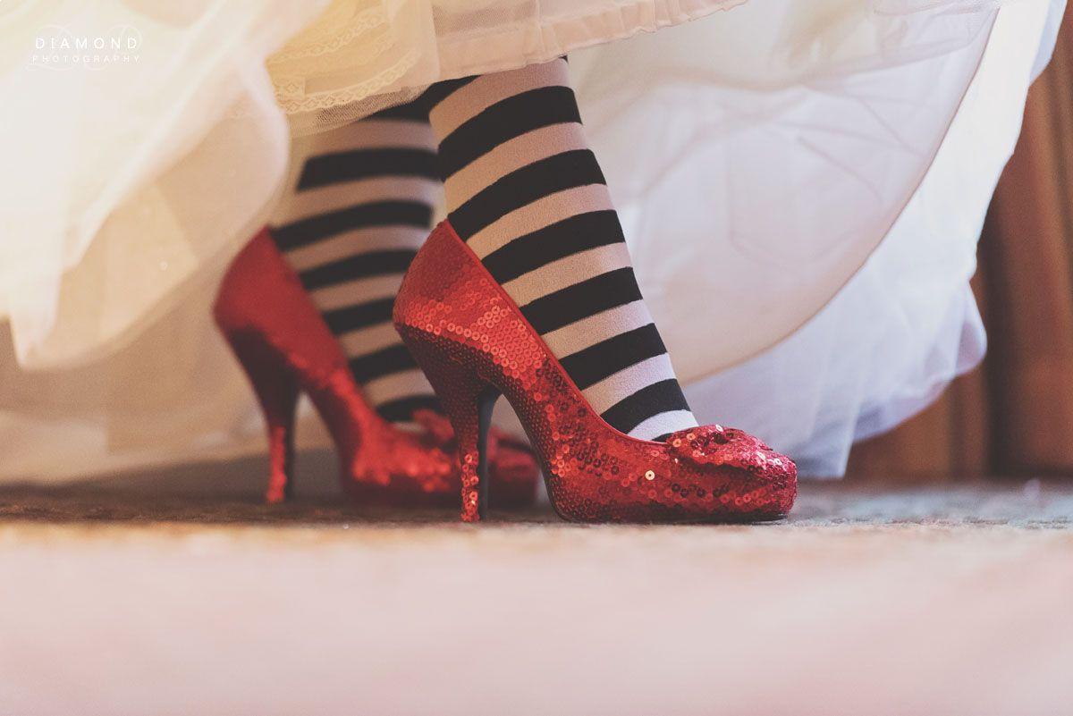 Love the shoes Vicky! - Crathorne Hall Wedding