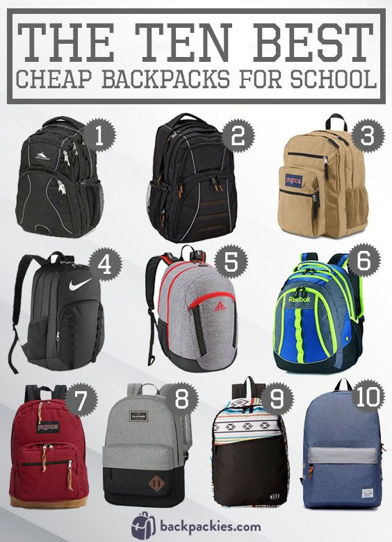 9b2d88d9c0 10 Best Cheap Backpacks For School 2018