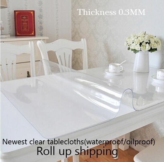 newest clear soft glass table covers thickness 03mm tablecloth pvc plastic table cloth for