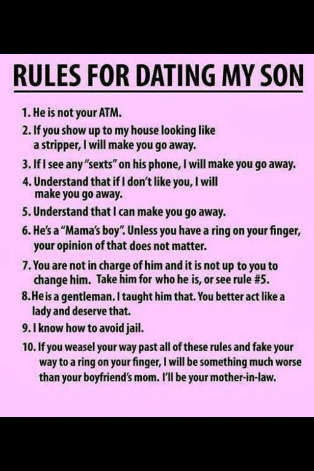 Momma S Boy Son Quotes Words Dating My Daughter