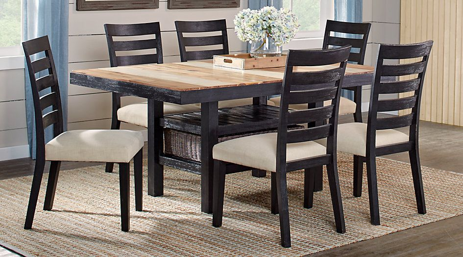 Picture Of Farmington Hills Black 5 Pc Rectangle Dining Room From Furniture Rectangle Dining Room Set Rooms To Go Furniture Affordable Dining Room