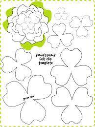 Moldes Para Flores De Papel Crepe Buscar Con Google Crafts