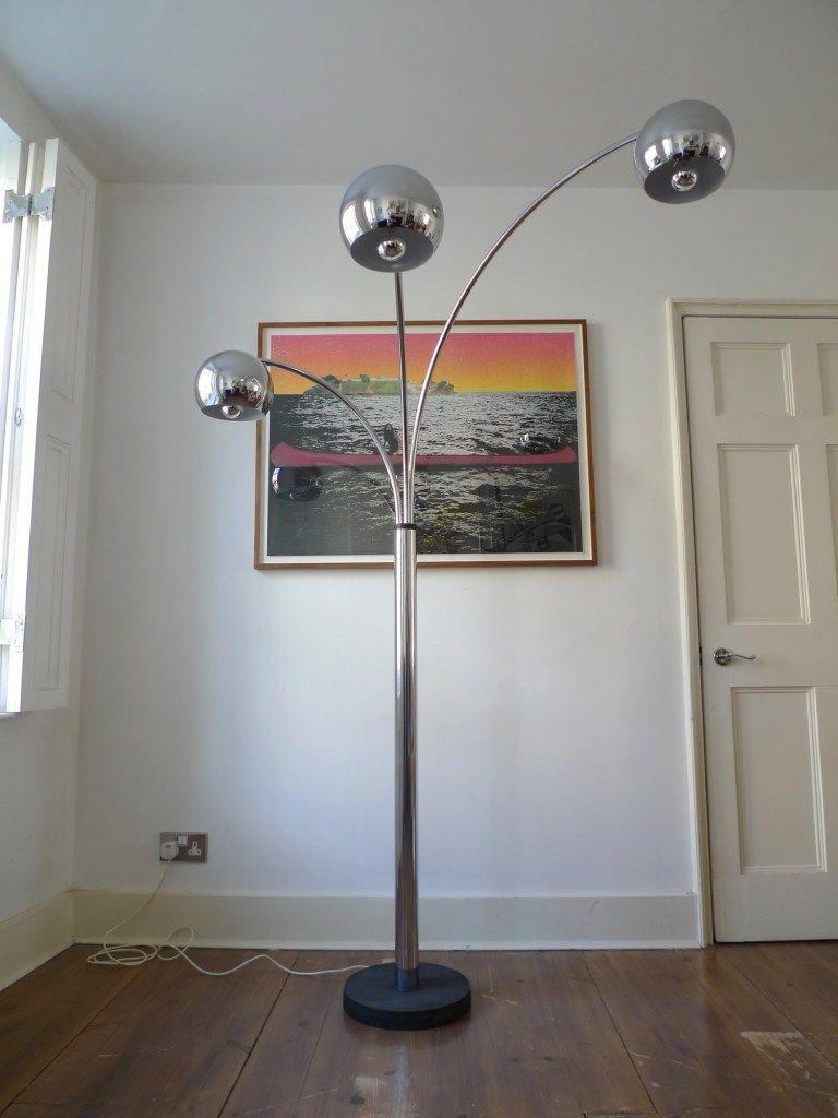Mid 20th Century 3 Arm Arc Floor Lamp Lighting Arc Floor Lamps