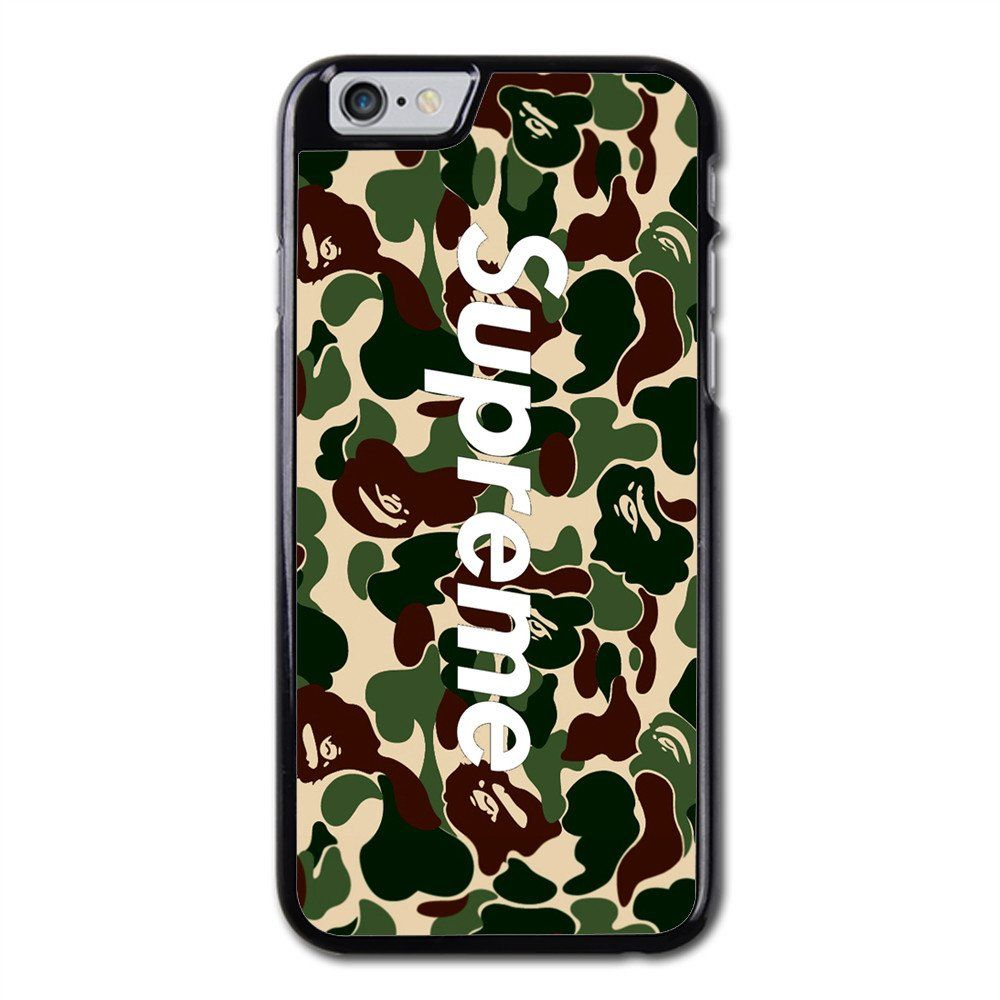 supreme x a bathing ape bape camo phonecase for iphone 6. Black Bedroom Furniture Sets. Home Design Ideas