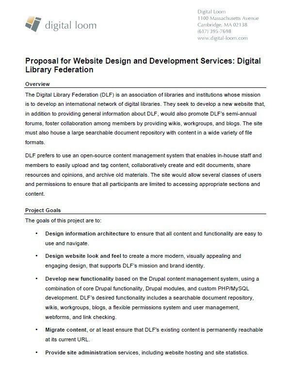 Website Design Proposal Template  Stationary Templates