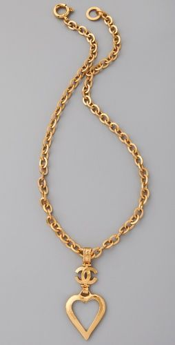 WGACA Vintage Vintage Chanel '96 Heart Loupe Necklace