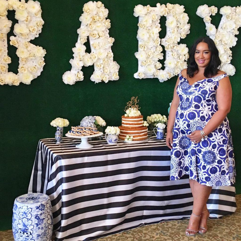 Plus Size Baby Shower Dress | Plus Size Maternity Look | Plus Size Party  Look