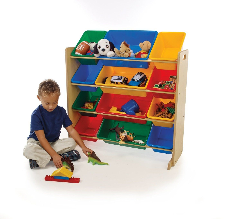 Amazon.com - Tot Tutors Kidsu0027 Toy Organizer With Storage Bins Primary Colors  sc 1 st  Pinterest & Amazon.com - Tot Tutors Kidsu0027 Toy Organizer With Storage Bins ...
