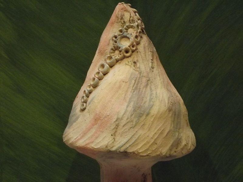 Elfen Pilz Keramik Original Gartendeko Skulptur  von Elfenflüstern ® auf DaWanda.com