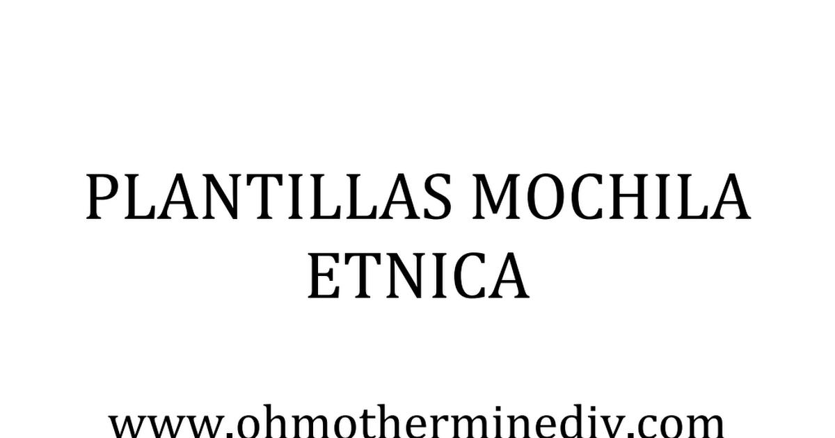 PATRON MOCHILA ETNICA.pdf   costura   Pinterest   Patchwork