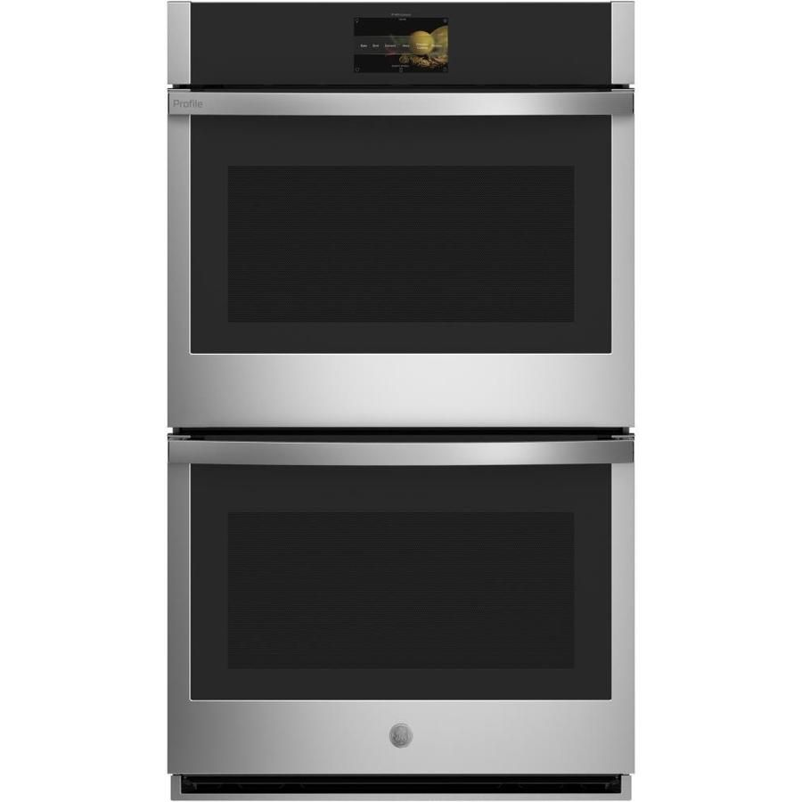 Ge Profile Self Cleaning Air Fry True Convection Double Electric Wall Oven Stainless Steel Common 30 Wall Oven Electric Wall Oven Double Electric Wall Oven