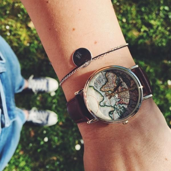 Around The World Leather Watch - Urban Outfitters