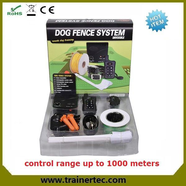 safe electric pet containment system including adjustable waterproof dog shock collars with battery