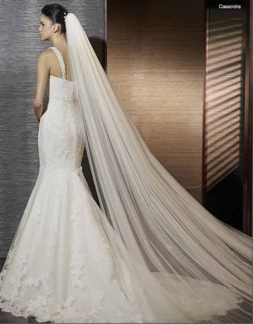 Raw Edge Cathedral Veil Ivory Cheap Wedding Dress Mermaid Trumpet Wedding Dresses Wedding Bridal Veils