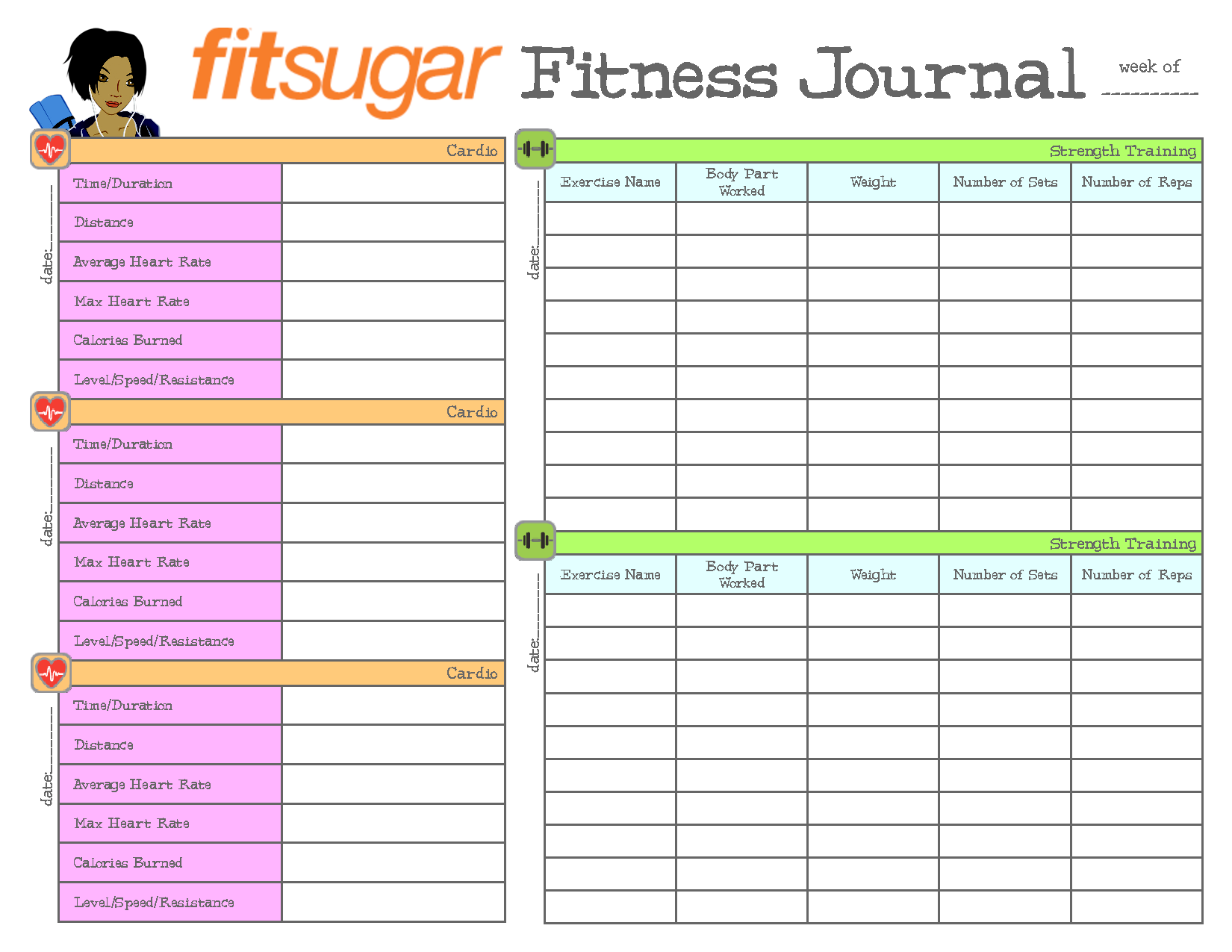 Idea Health  Diet And Exercise    Weight Loss Journal