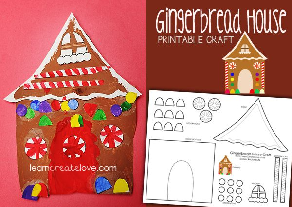 Gingerbread house art project