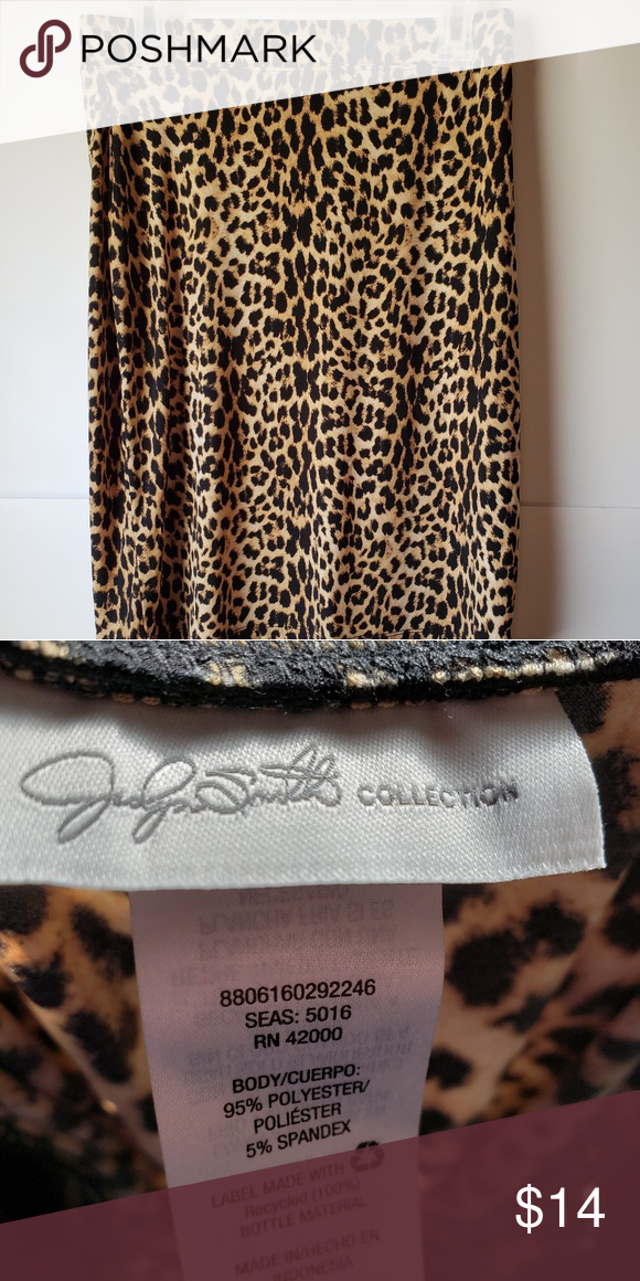 322e6954bf0ad Animal print Skirt Elastic Waist Stretch Skirt in good condition Skirts  Pencil