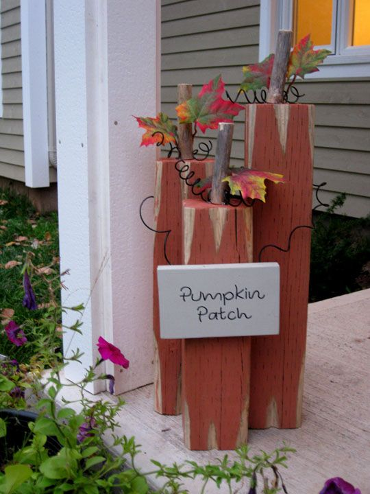 Thinking with my heart 4x4 pumpkin porch decoration for for Decoration 4x4