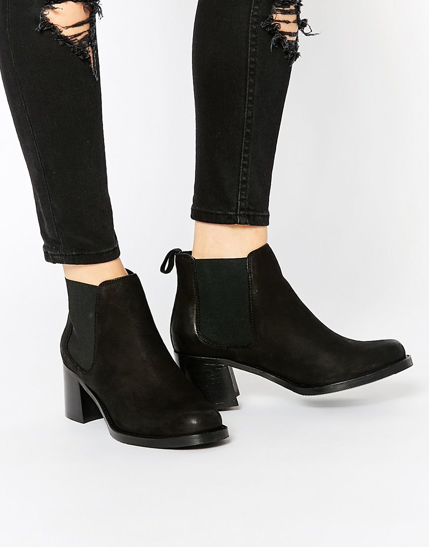 Buy Women Shoes / Asos Riddles Leather Chelsea Boots