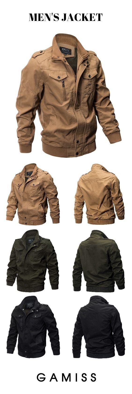 New Large Size Coat Washed Cotton Jacket | Mens fashion
