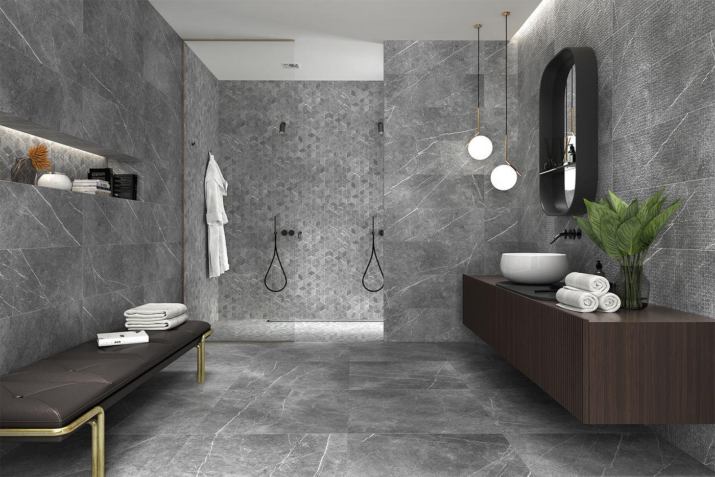 Fliesenkollektion In Moderner Marmoroptik Badezimmer Bathroom Einrichten Idee Schwarz Marmor Opt Tolle Badezimmer Bad Fliesen Designs Badezimmer Fliesen