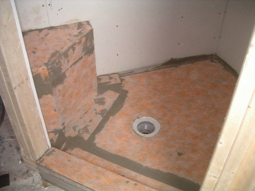bathroom membrane for tiling shower floor tile using kerdi membrane and kerdi drain 16194